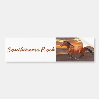 Southerners Rock horse sunrise Bumper Sticker