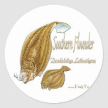 southernflounderspecies round stickers