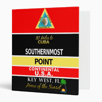 Southernmost Point Buoy Key West 3 Ring Binder