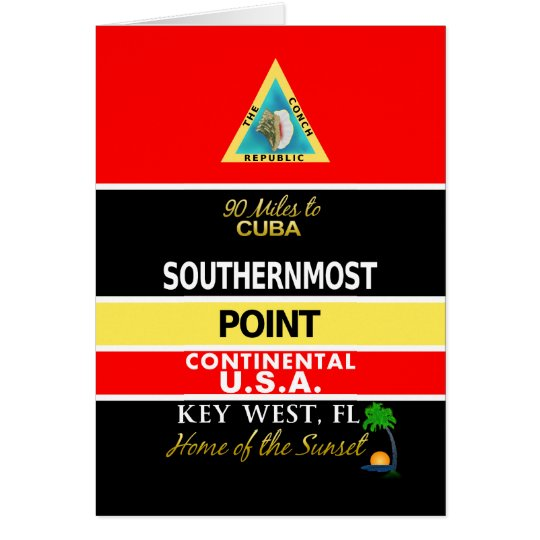 Southernmost Point Buoy Key West Card