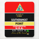Southernmost Point Buoy Key West Mouse Pad