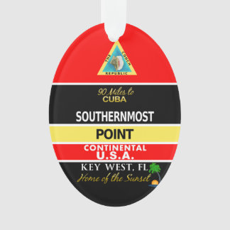 Southernmost Point Buoy Key West Ornament