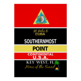 Southernmost Point Buoy Key West Poster