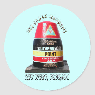 Southernmost Point Classic Round Sticker