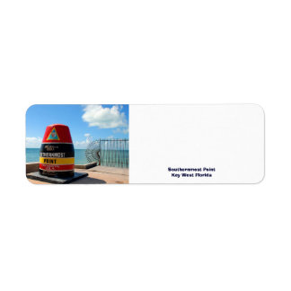 Southernmost Point Key West Florida Label