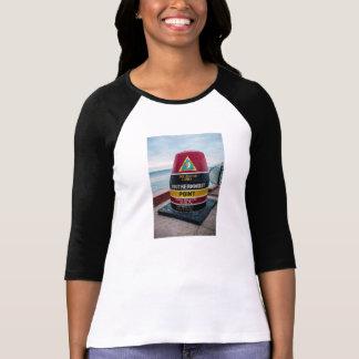 Southernmost Point Ladies 3/4 sleeve Raglan Shirt