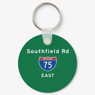 Southfield Rd 75 keychain
