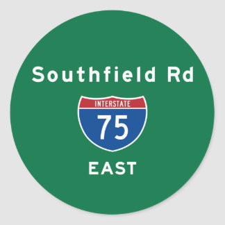 Southfield Rd 75 Etiqueta