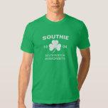Southie Boston Massachusetts 1804 with Shamrock Shirt