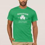 Southie Boston Massachusetts 1804 with Shamrock T-Shirt
