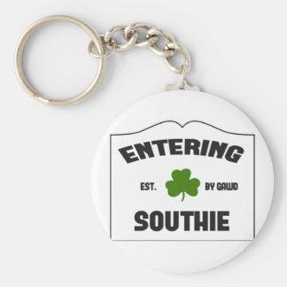 Southie que entra llavero redondo tipo pin