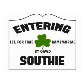 Southie que entra tarjeta postal