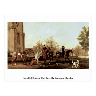 Southill Leave Hunters By George Stubbs Postcard