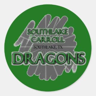 Southlake Carroll Dragons - Southlake, TX Classic Round Sticker