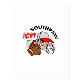 SOUTHPAW HEAT POSTCARD