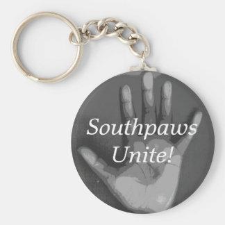 """Southpaws Unite!"" Basic Round Button Keychain"