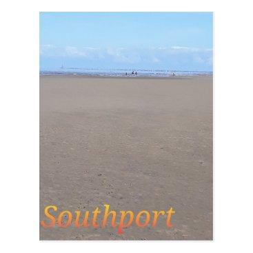 Beach Themed Southport Beach Postcard