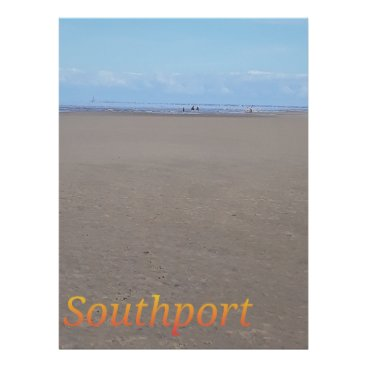 Beach Themed Southport Beach Poster