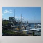 Southport, Carolina del Norte - barcos de pesca (2 Poster