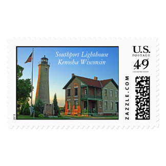 Southport Lighthouse, Kenosha Wisconsin Stamps