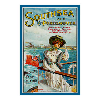 Southsea and Portsmouth Print