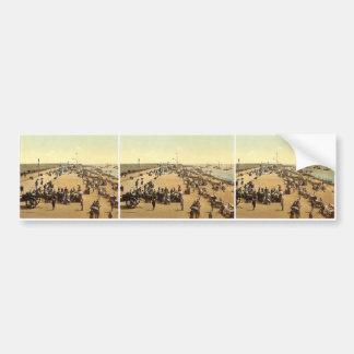 Southsea beach, England rare Photochrom Car Bumper Sticker