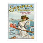 Southsea Portsmouth UK Vintage Travel Poster Art Postcard