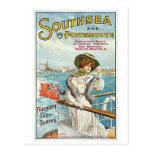 Southsea Portsmouth UK Vintage Travel Poster Art Post Card
