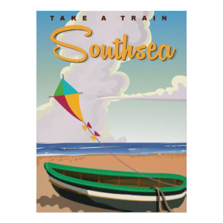 Southsea vintage travel poster