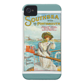 Southsea y anuncio del viaje del vintage de iPhone 4 protector