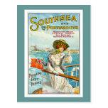Southsea y anuncio del viaje del vintage de Portsm Postal
