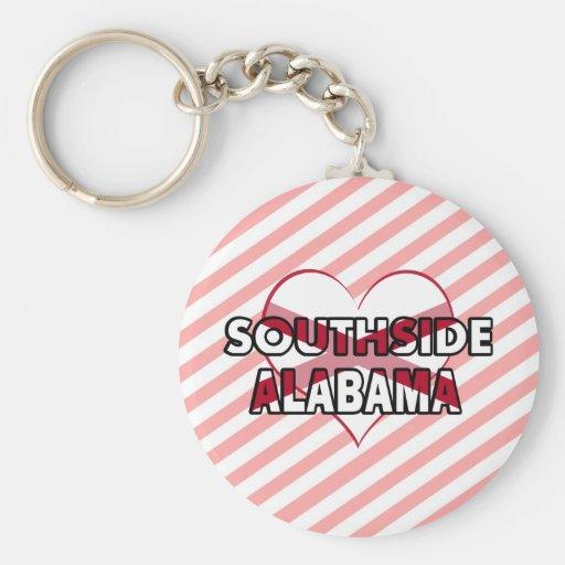 Southside, Alabama Llavero Redondo Tipo Pin