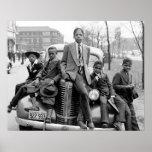 Southside Chicago Boys, 1941. Foto del vintage Póster