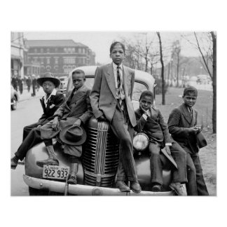 Southside Chicago Boys, 1941. Vintage Photo Poster