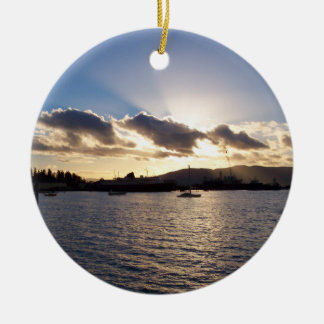Southside Moorage Ceramic Ornament