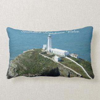 Southstack Lighthouse Wales. Lumbar Pillow