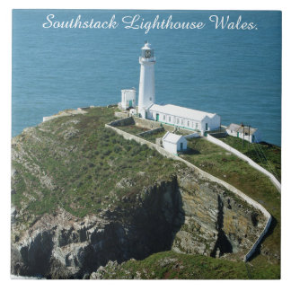 Southstack Lighthouse Wales. Tile