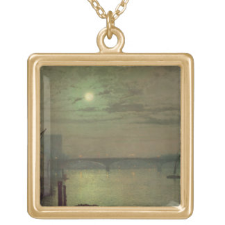 Southwark Bridge, 1882 (oil on canvas) Gold Plated Necklace