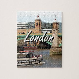 Southwark Bridge, Thames River, London, England 2 Puzzle