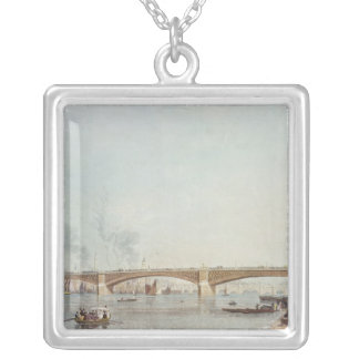 Southwark Bridge, West Front, from Bankside Silver Plated Necklace
