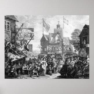 Southwark Fair, 1733 Poster