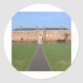 Southwell Workhouse in Nottinghamshire Classic Round Sticker