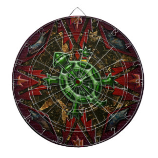 Southwest Abstract Circle Art 3 of 4 Dart Boards