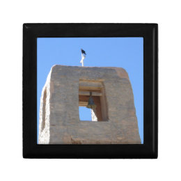 Southwest Adobe Bell Tower With Bird Ontop Gift Box
