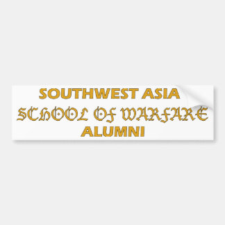 Southwest Asia School of Warfare Alumni Bumper Sticker