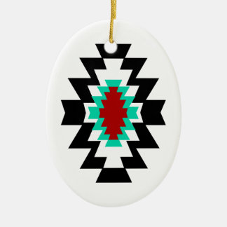 Southwest Aztec Native American Tribal Design Ceramic Ornament