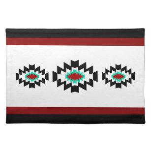 Cloth Placemats Teal Buffalo Southwestern Boho Tribal Set of 2
