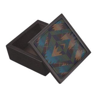 Southwest Aztec Pattern Jewelry Box