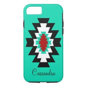 Southwest Aztec Turquoise Native American Tribal iPhone 8/7 Case