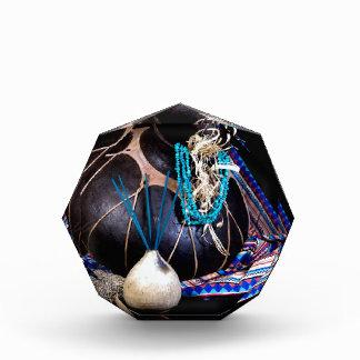Southwest Black Pot Incense Turquoise Necklace Acrylic Award